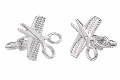 Comb and Scissors Barber Cufflinks